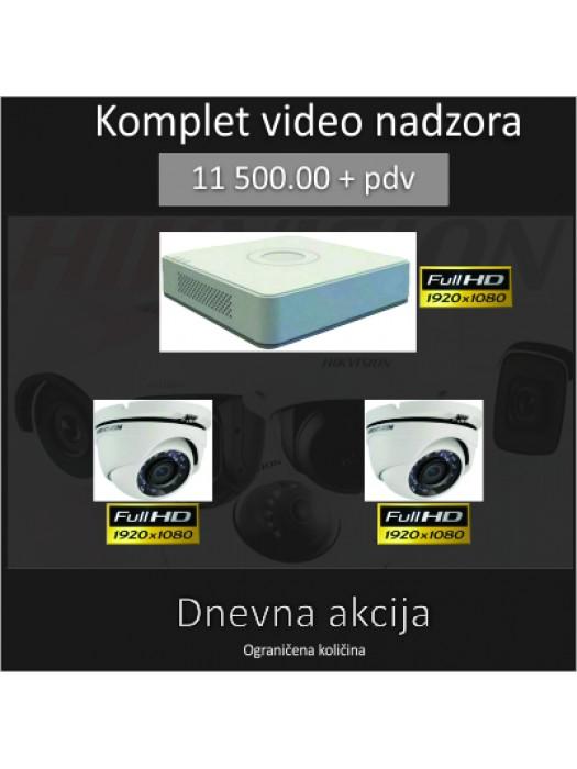 Dnevna  akcija Hikvision  DS-7104HQHI-K1 + Full HD kamere kom 2